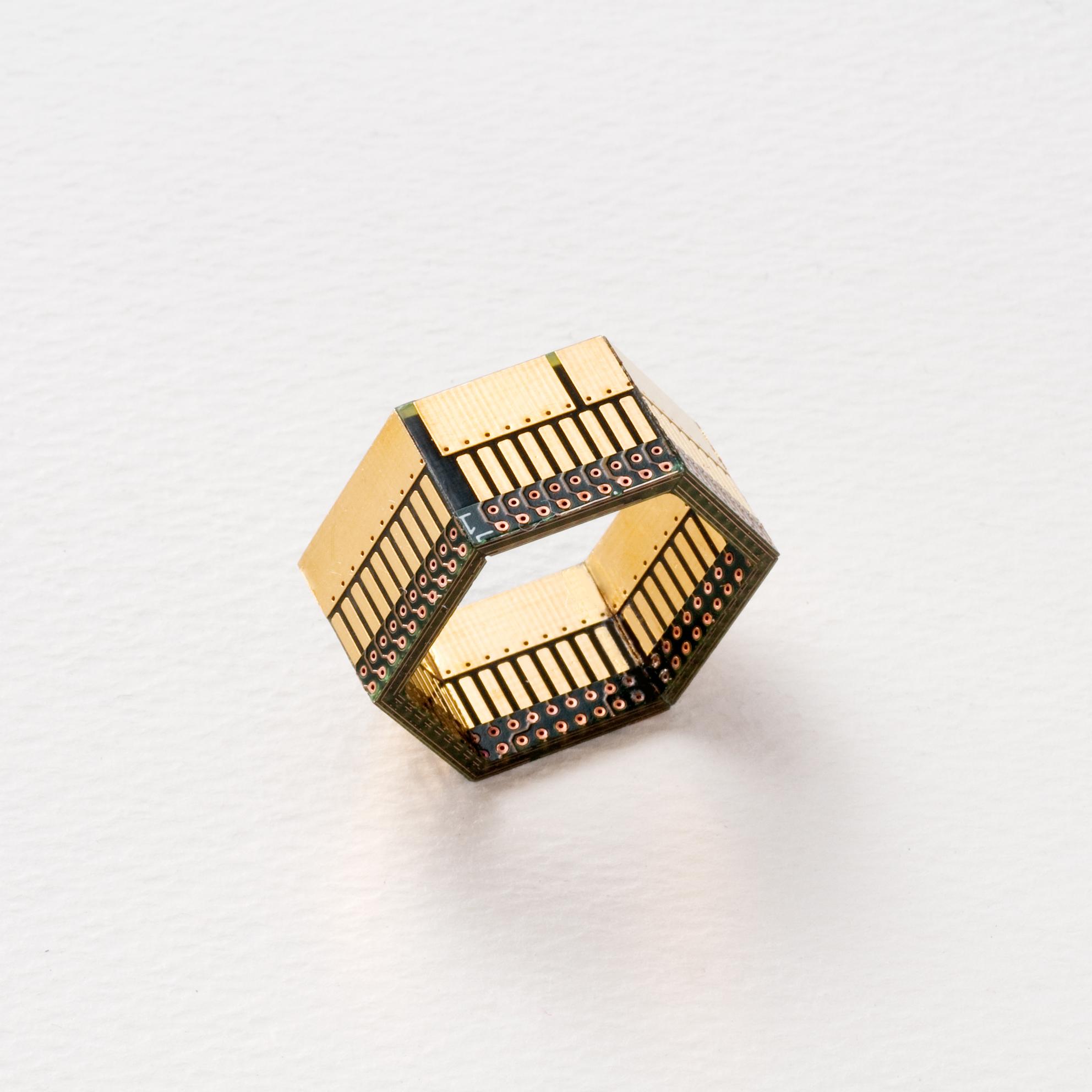 Black & Gold Circuit Ring